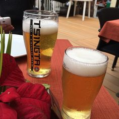 "Having an ""Ice Cold In Alex"" moment with a chilled #lager In #Lantau #Island  in #HongKong  #ArnoldsAtticHongKong2015"
