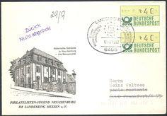 Germany, ATM 12.09.1982, Bund, Automatenmarken, 40 Pfg. im Paar mit Sonderstempel von Langenselbold auf portogerechtem Brief nach Frankfurt, ATM-Paare sind selten. Price Estimate (8/2016): 15 EUR.