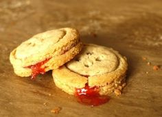 Jam-filled button cookies