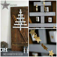 Weihnachtsbaum aus Holz #weihnachten #holz #inspiration Emilia und die Detektive