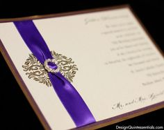 Royal Classic One Panel Wedding Invitation by designquintessential, $5.00