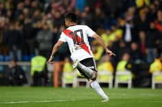 Gonzalo Martinez of River Plate celebrates after scoring his team's third goal during the second leg of the final match of Copa CONMEBOL Libertadores 2018 between Boca Juniors and River Plate at. Get premium, high resolution news photos at Getty Images Scores, Finals, First Time, Madrid, Two By Two, Spain, Plates, History, Celebrities