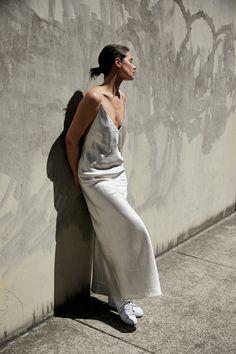 Christopher Esber Silver Maxi Slip Dress   Outfit   Style   HarperandHarley