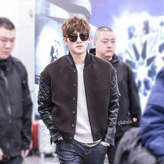 2016-01-18 at Beijing airport to Shanghai | Ji Chang Wook