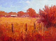 Ruby Valley Ranchland by Roger Alderman Oil ~ 9 x 12