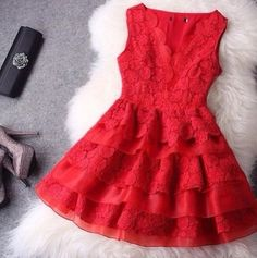 Dress: little red little red red bright bold sexy date night date idea outfit girly girl pretty cute