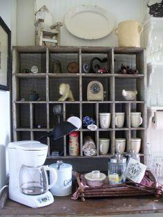 A Cottage Kitchen-a great organizer.