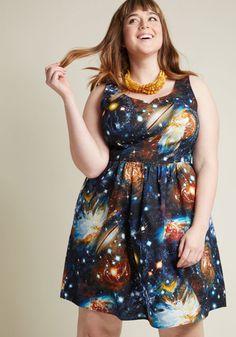 9b996069159bd Heart and Solar System A-Line Dress. ModCloth