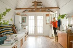 15 home garages transformed into beautiful living spaces pinterest see how this california couple creates a great living area in 200 square feet solutioingenieria Choice Image