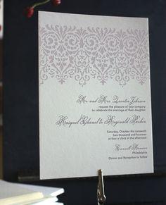 Regency Letterpress Invitation by KatBlu Studio #letterpress #invitation #wedding