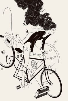 "rollersinstinct: "" Mind is the Ride is a print design by Russian artist Anton Marrast for Jet McDonald's Boneshaker book project by the same name. """