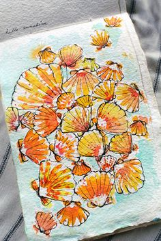 A watercolor for my fellow sunrise shell seeker... | Goldfish Kiss