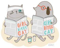 Anke Weckmann  GIRL BITES CAT (personal work, 2012)