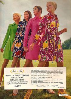 1970s vintage fabric design