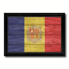 Andorra Country Flag Texture Canvas Print, Picture Frame Home Décor Wall Art Gift Ideas