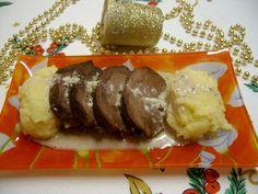 Pulpa de caprioara la cuptor cu sos de usturoi cu ghimbir