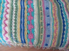 close up of 'do your own thing' one of four afghans I made this winter