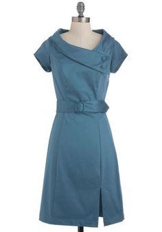 Slate of the Art Dress, #ModCloth. I like this but wonder if it's too costumey, twee.