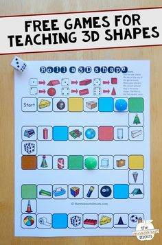 Teach kids about 3D shapes with this set of free shape games!