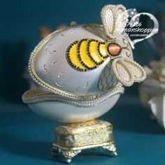 Bumble bee  Faberge style Russian carved egg music box free shipping e17 on AtomicMall.com http://atomicmall.com/view.php?id=2287308_source=Twitter_medium=ProductToools