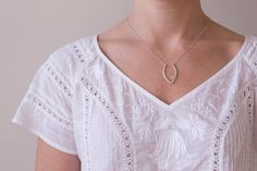 Necklace  Silver Leaf Set With Gemstone by SusieBrandJewelry