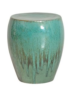 Teal Drum Stool/Table by Emissary
