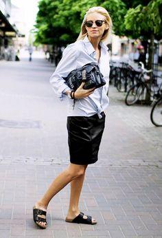 BCBGMAXAZRIA Sidnee Long Sleeve Chambray Shirt ($178) in Light Eriwinkle Com