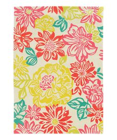 Pink & Yellow Floral Rug