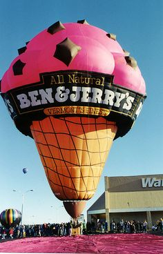 """Ben & Jerry's"" hot air balloon at the Balloon Festival in Colorado Springs, CO - photo by Joe_B, via Flickr"