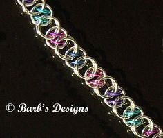 Chainmaille+Bracelet+Is+Cute+In+Berry+Anodized+by+BarbsDesigns,+$25.00