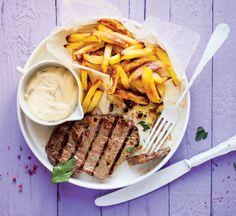Steak s hranolky a bylinkovou majonézou  Foto: Gurmet