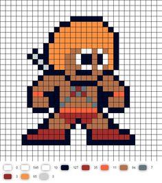 He-Man Perler Bead Pattern