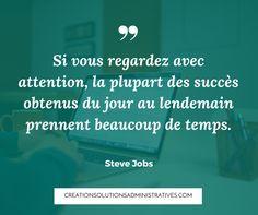 Inspiration : Citation de Steve Jobs Visitez la page Facebook tous les mardis pour de nouvelles citations inspirantes!