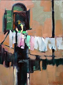 Venetian Laundry by Trisha Adams Oil ~ 16 x 12 Selling Paintings, Paintings I Love, Beautiful Paintings, Laundry Art, Oeuvre D'art, Art Oil, Painting Inspiration, Landscape Paintings, Landscapes