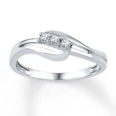 Diamond Ring 1/10 ct tw Round-cut Sterling Silver