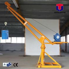 Small Electric Winch, Mini Lifting, Welding Projects, Welding Art, Diy Projects, Crane Mobile, Gantry Crane, Shop Buildings, Safe Storage