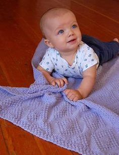 Baby Blanket - this is a gorgeous reversible stitch