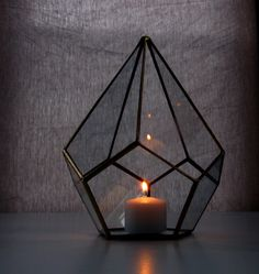 Candle Holder / Glass Lighting / Teardrop Glass Terrarium / Minimalist Lighting