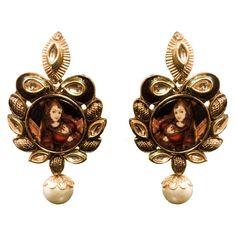 Ethnic Rajasthani Floral Motif Earring, Indian Jewelry in UK Shop Online indian jewellery Fashion Earrings Online, Fashion Jewelry, Jewellery Uk, Gold Jewelry, Chandelier Earrings, Women's Earrings, Gold Ring Designs, Imitation Jewelry, Designer Earrings