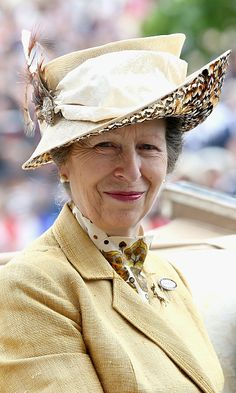 Princess Anne at Royal Ascot 2015 in a well loved outfit.
