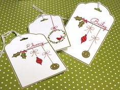 My Digital Studio | Berry Christmas personalized tags by Teneale Williams