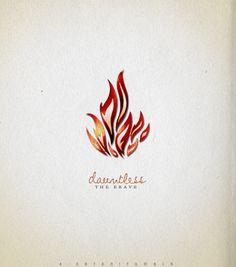 Dauntless the Brave Flame Tattoos, Eagle Tattoos, Mini Tattoos, New Tattoos, Small Tattoos, Be Brave Divergent, Divergent Insurgent Allegiant, Divergent Series, Avatar Tattoo