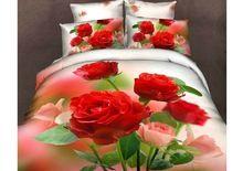Beautiful Red Rose 3D Print Bedding Set