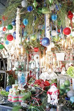 holiday decorations at Nell Hill's shop