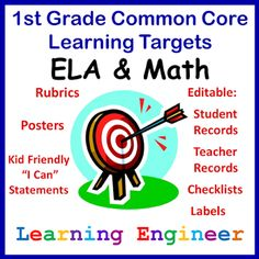 TpT - great CCSS poster pages Learning Engineer: Common Core
