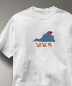 Cool Fairfax County Virginia VA Shirt from Greatcitees.com