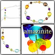 #armcandy! #delicious and #dainty #genuine #gemstone #bracelet. #rich #color(ed) #fancy #cut #gems #handset into #14k #gold. #amazinite #jewelry -   #affordable #luxury   http://amazinite.com