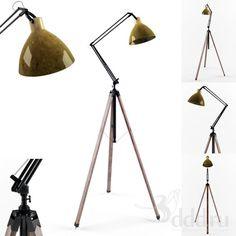 Architect Lamp 3dsMax 2012 + obj (Vray) : Floor lamp : 3dSky - 3d models