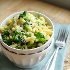 Macaroni with Broccoli & Peas Recipe Side Dishes with olive oil, butter…