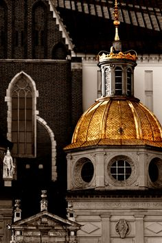spiritussarmatus: The most deserving of history rest below golden domes. The Royal Cathedral at Wawel Hill, Kraków, Poland - the Zygmunt Chapel crypt. Architecture Antique, Visit Poland, Krakow Poland, Central Europe, Place Of Worship, Kirchen, Eastern Europe, Historical Sites, Bauhaus